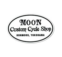 MOON Custom Cycle Shop Sticker
