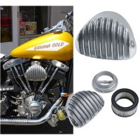 Finned clamshell cast air cleaner