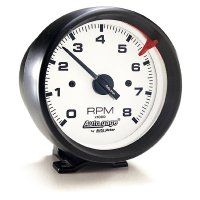 Auto Gauge 8000RPM White Face Tachometer  Cylinder for 4/6/8  Black Cup