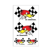 Clay Smith Checkered Flag Decal Set