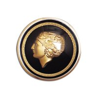 Golden Lady Horn Button