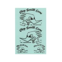 Clay Smith Clear Base Sticker Set   (Black)