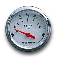 Arctic White / Red  Pointer Fuel Level Meter