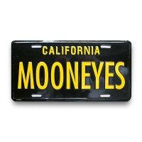 MOONEYES California Steel License Plates Black