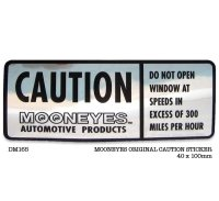 MOONEYES CAUTION Sticker