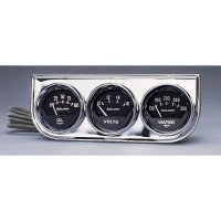 Auto Gauge 2 1/16inch Chrome 3 Gauge Console  (Mechanical)