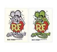 Rat Fink Made in USA Metal Flake 9x5.7cm