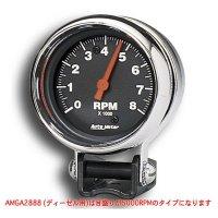Performance  5000RPM Black Mini Tachometer for Diesel
