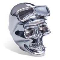 Chrome Shift Knob Skull with Goggles