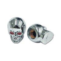 Chromed Skull Air Valve Caps