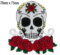 Skull & Roses Patch