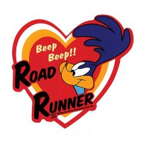 Road Runner Heart Sticker