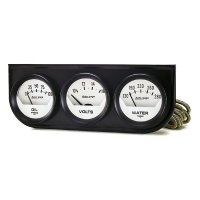 Auto Gauge 2 1/16inch 3 Gauge Black Console