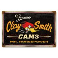 Clay Smith Genuine Mr.Horsepower Black Metal Sign
