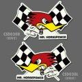 Clay Smith Checkered Flag Sticker