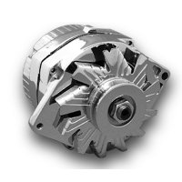 Crome Alternator One Wire 63amp.