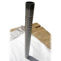 Bare Metal Ripple Pipe
