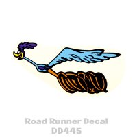 Road Runner Decal LH 6.25 inch