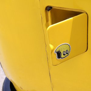 Photo2: MOON Helmet Sticker