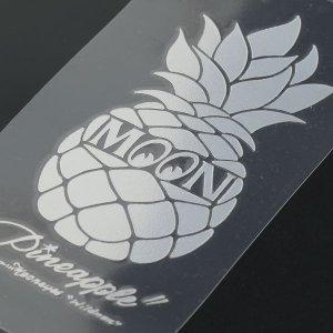 Photo3: Pineapple Sticker (Script Style)