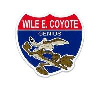 Wile E. Coyote Route Sign Sticker