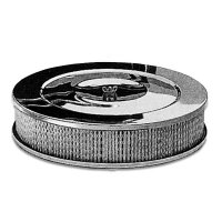 """Chromed  """"Performance"""" Style Air Cleaner ? Base: Flat"""
