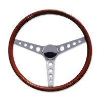 "15"" Wood Steering Wheel Round Hole"