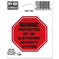 Sign Sticker WARNING