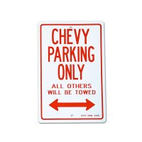 "Parking Signboard ""CHEVY"""