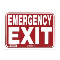 EMERGENCY EXIT  (Placard)