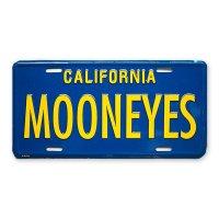 MOONEYES California Steel License Plates Blue