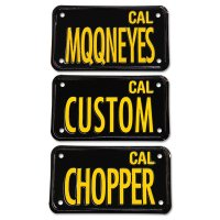 California Motorcycle License Plate - Black
