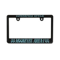 "Black License Frame for Motorcycle ""Mooneyes Area-1"""