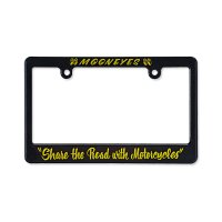 "Black License Frame for Motorcycle ""Share The Road with Motorcycle"""