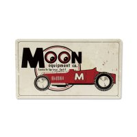 MOON Roadster Metal Sign