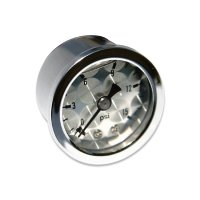 Direct mount Pressure Gauge Engine-Turned Facia Face  (0-15psi)