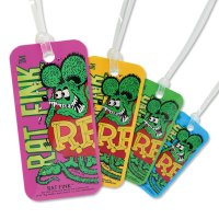 Rat Fink Luggage Tag Standing