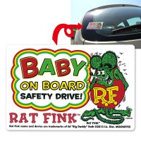 Rat Fink Baby on Board Sticker