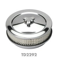 """Chromed  """"Muscle Car"""" Style Air Cleaner 2-1/ inch"""