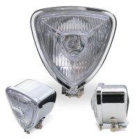 Chrome Triangle Motorcycle Headlight