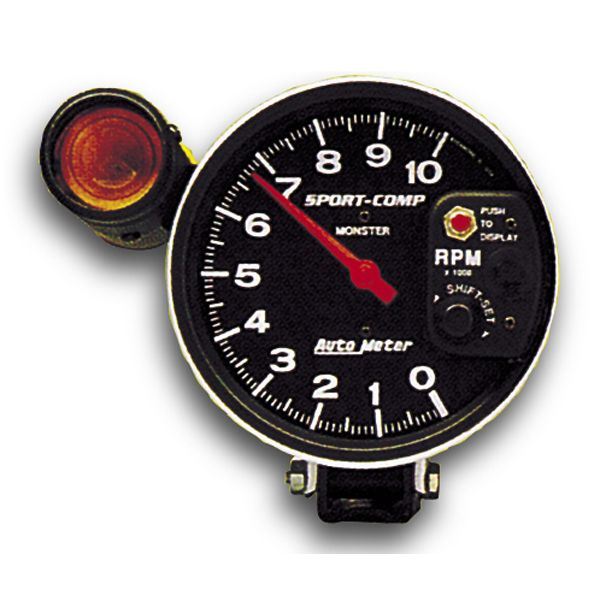Sports Comp 5inch 10000rpm Shift Light Tachometer Cylinder