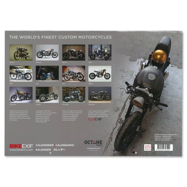 Bike Exif Calendar 2014 Custom M C Calendar by