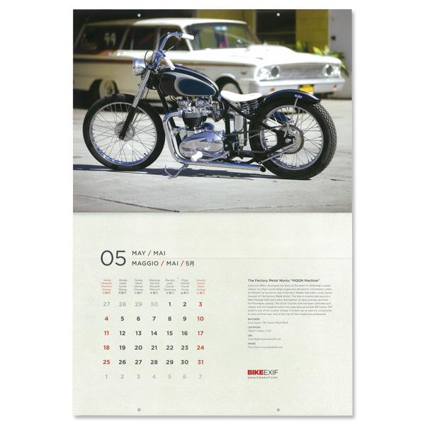 Photo3: 2014 Custom M/C Calendar by BIKE EXIF