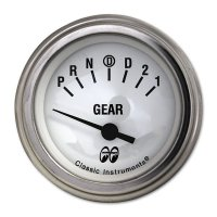 MOON Equipped 2inch Gear Indicator 4 Speed  (White)