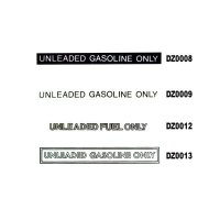 UNLEADED ONLY Decal