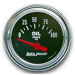 Photo1: Performance Traditional  Gauge Oil Pressure  (0-80psi)