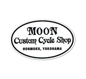 Photo1: MOON Custom Cycle Shop Sticker
