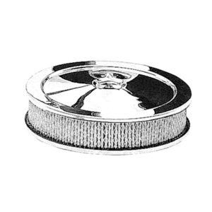 """Photo1: Chromed  """"Muscle Car"""" Style Air Cleaner 2-1/8 inch厚"""