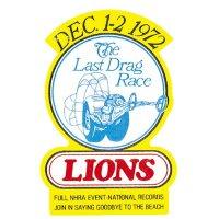 HOT ROD Sticker LIONS The Last Drag Race 1972 Sticker