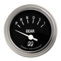 MOON Equipped 2inch Gear Indicator 3 Speed  (Black)